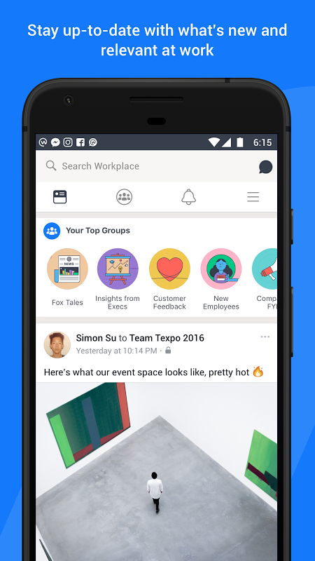 Android Workplace by Facebook Screen 1