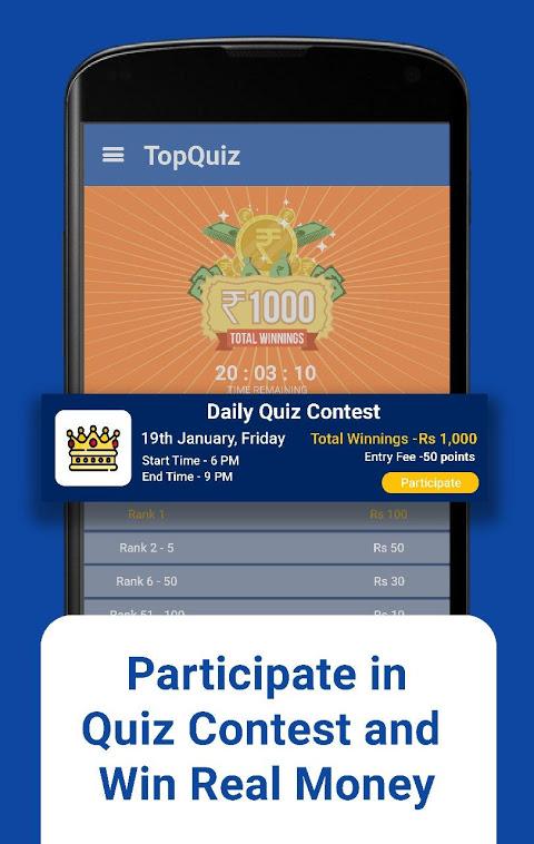 TopQuiz - Play KBC & Earn Paytm Money 3 1 APK Download by