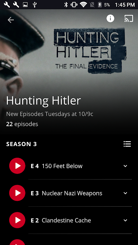 Android HISTORY: Watch TV Show Full Episodes & Specials Screen 2