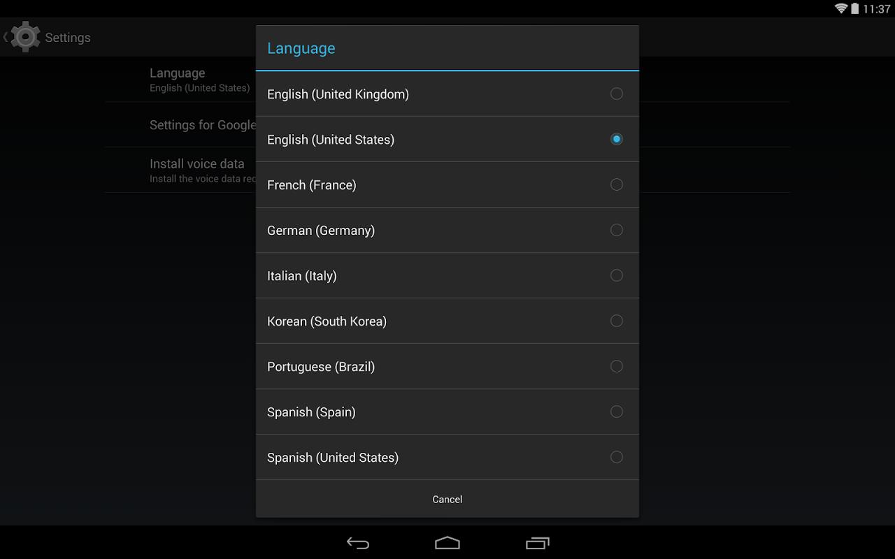 Google Text-to-speech Engine 3.8.16 Screen 2