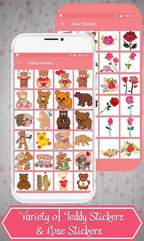 Android Love Stickers Screen 3