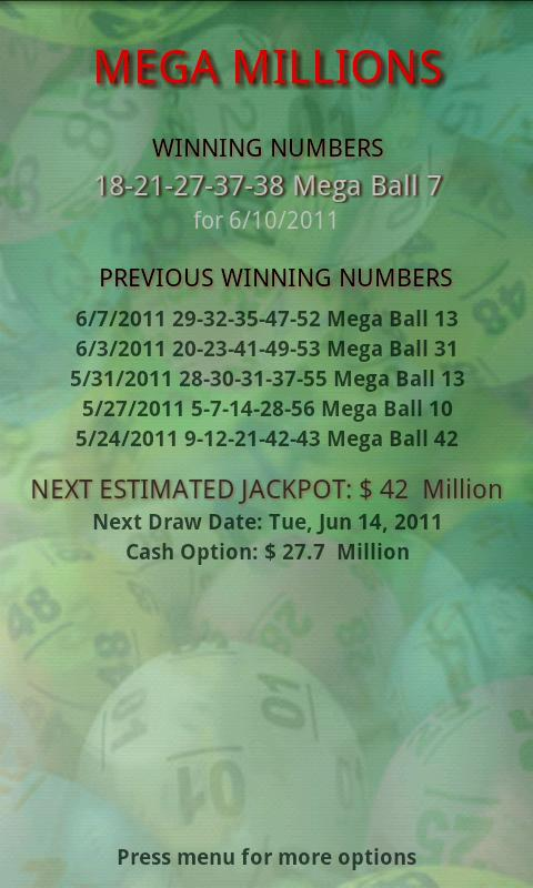 Lottery Pro Mega Millions 1 5 3 APK Download by ChronPro