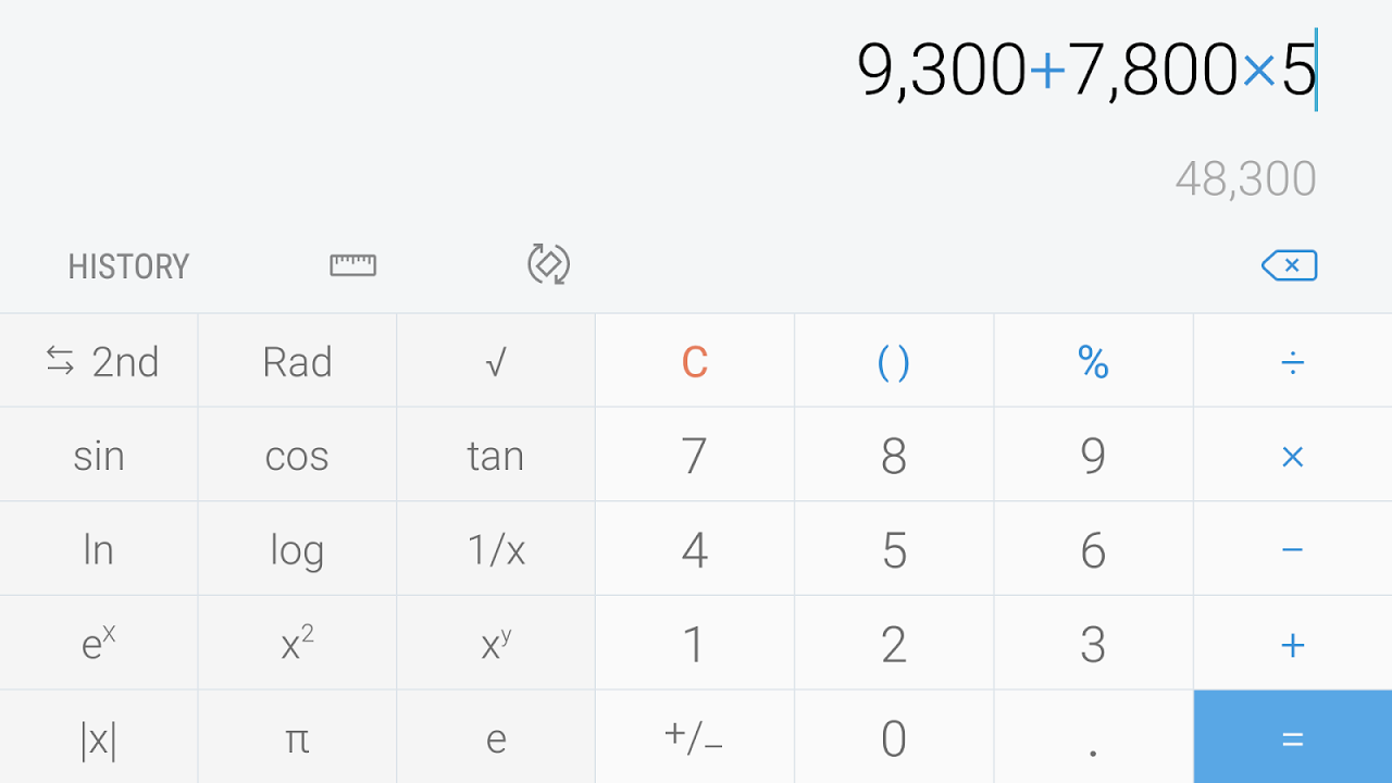 Calculator 6.0.51.12 Screen 2