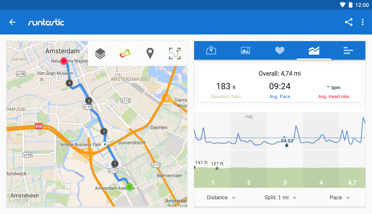 Android Runtastic PRO Running, Fitness Screen 20