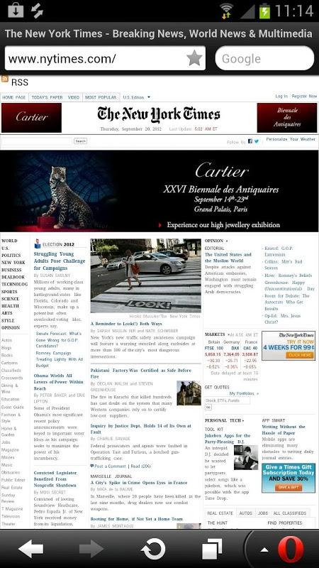 Opera Mini web browser 28.0.2254.119224 Screen 2