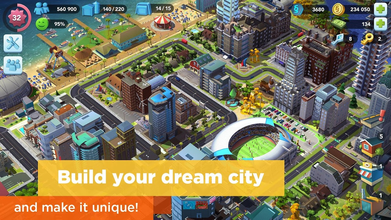 Android SimCity BuildIt Screen 1