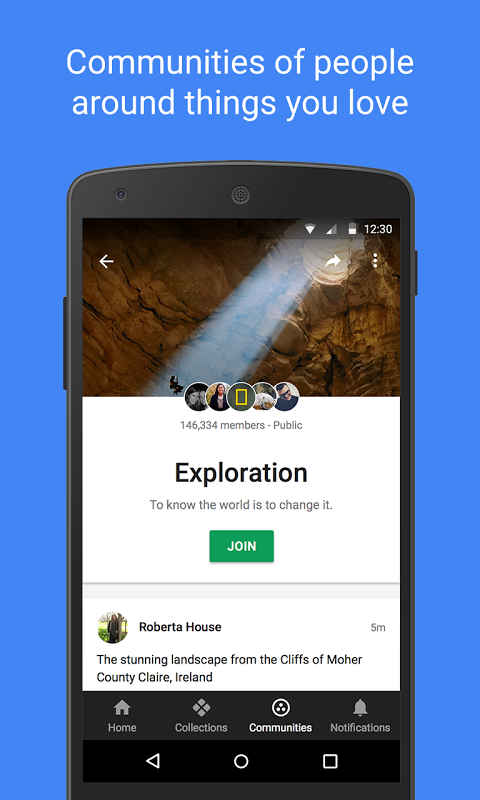 Android Google+ Screen 2