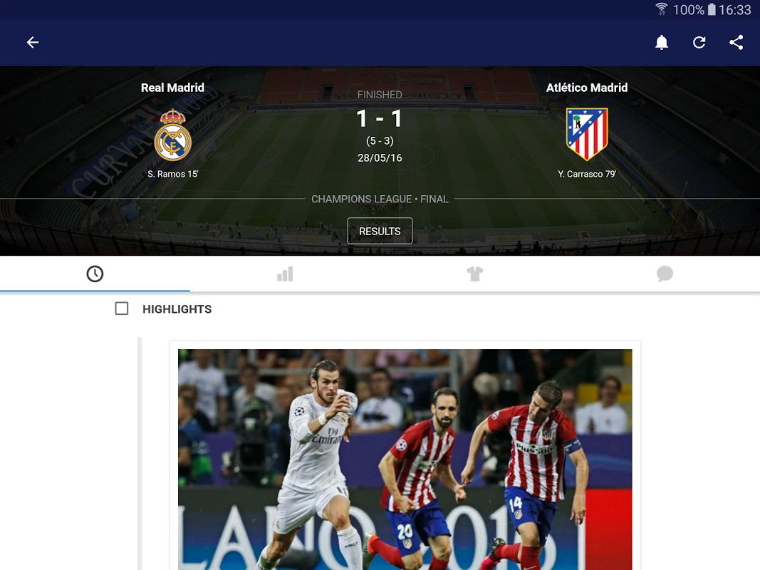 Android Eurosport Screen 10