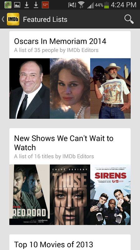 IMDb Movies & TV 2.3.2a Screen 1