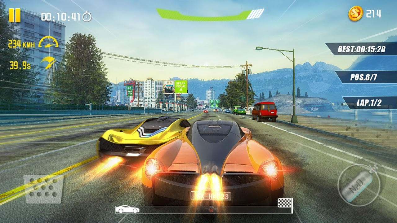 Android 4-Wheel City Drifting Screen 3