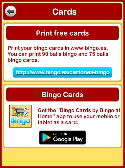 Bingo at Home 3.3.0 Screen 11