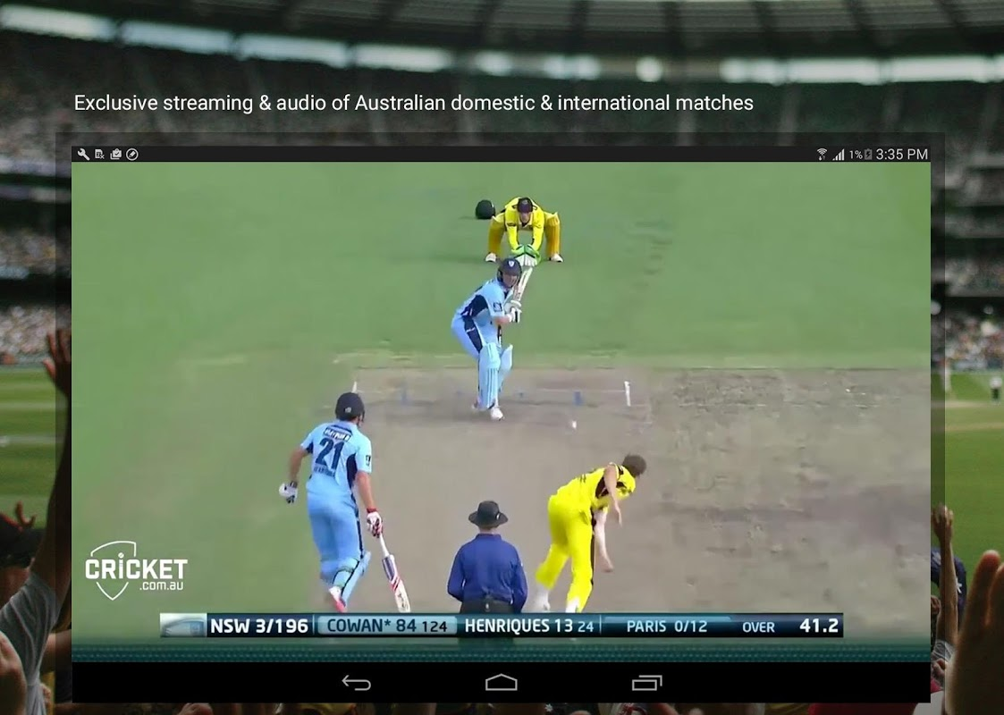 Android Cricket Australia Live Screen 2