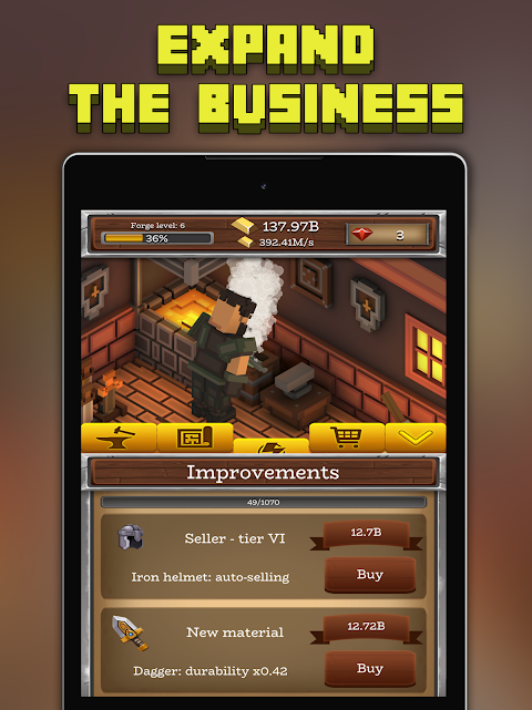 Android ForgeCraft - Idle Tycoon. Blacksmith Business Screen 8