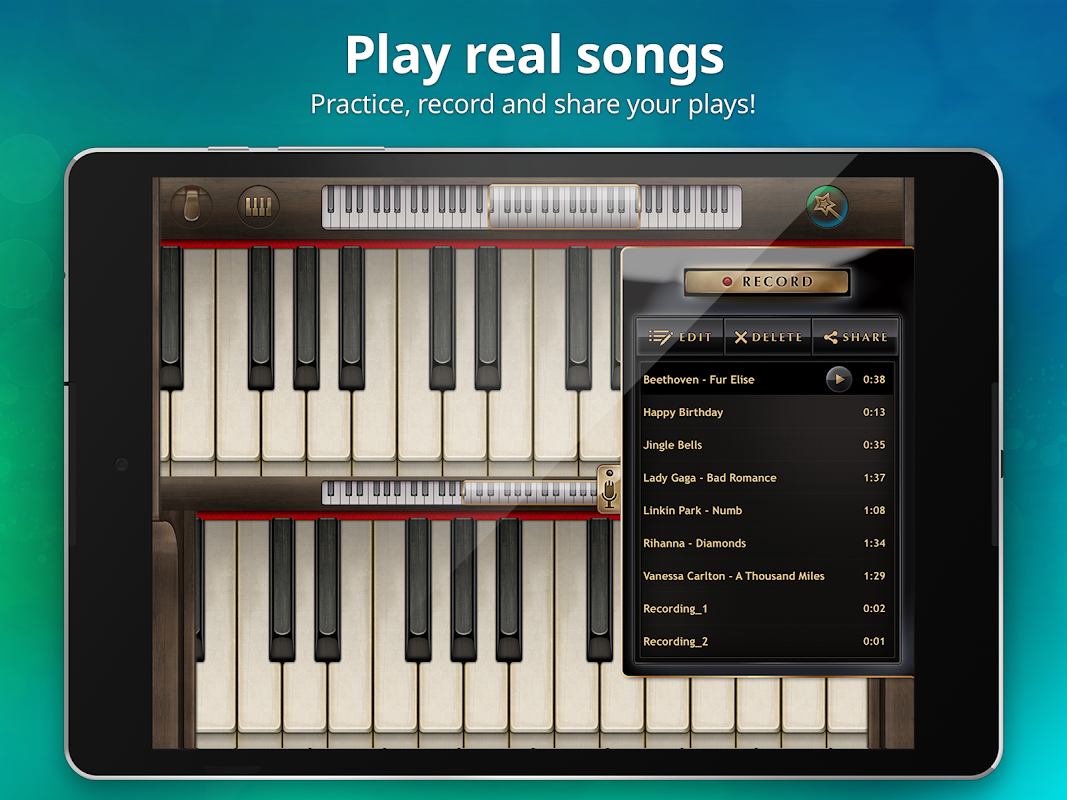 Android Piano Free - Keyboard with Magic Tiles Music Games Screen 10