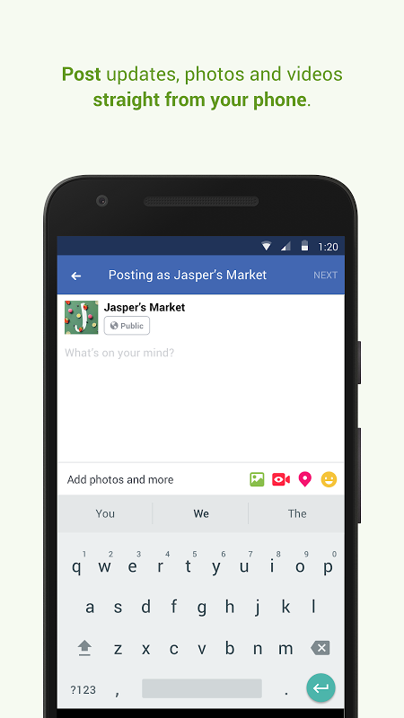 Facebook Pages Manager 143.0.0.42.136 Screen 2