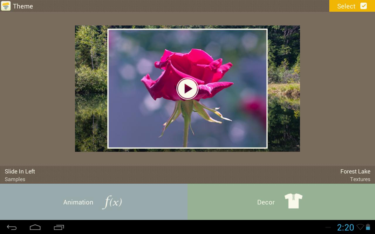 Android SlideFX Video Creator Screen 5