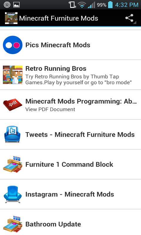 Android Furniture Mods For Minecraft Screen 2