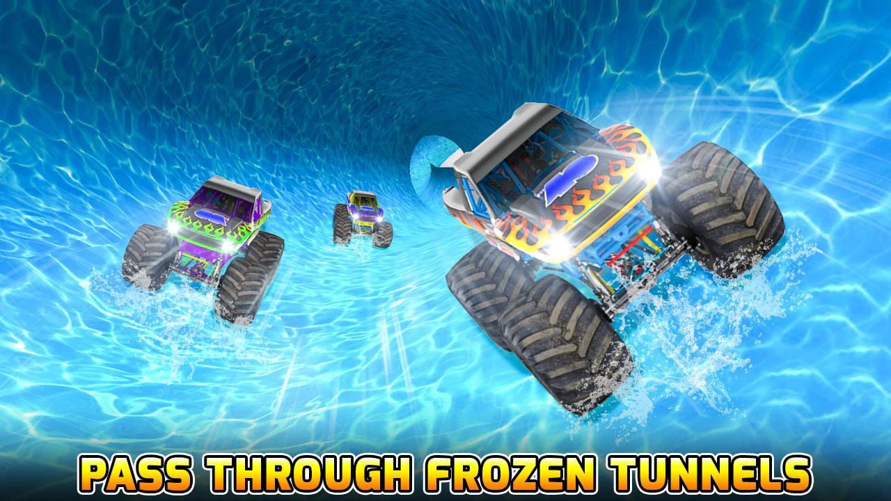 Android Water Slide Monster Truck Race Screen 2