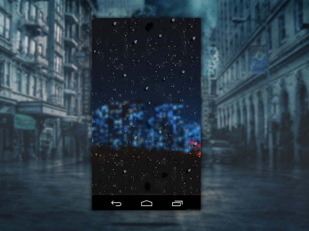 Android Weather: Weatherback, Effects on your homescreen Screen 10