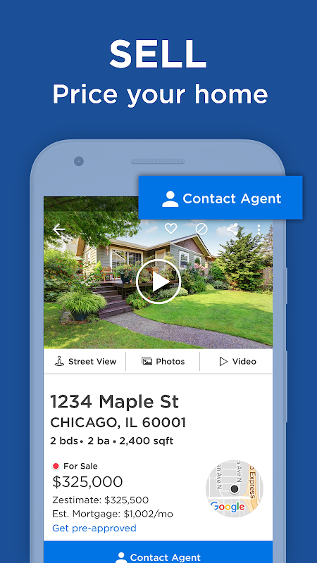 Android Real Estate, Houses & Home Property Values: Zillow Screen 14