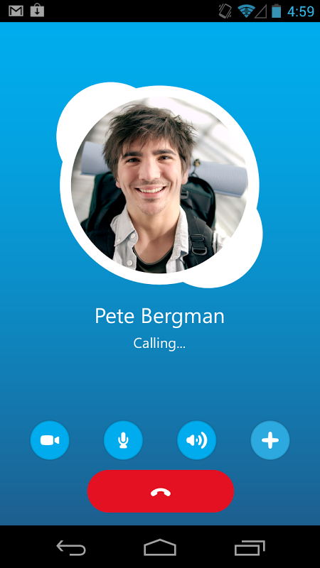 Android Skype Screen 5