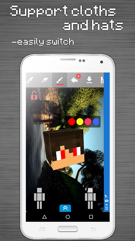 Android Skins Editor for Minecraft PE (3D) Screen 6