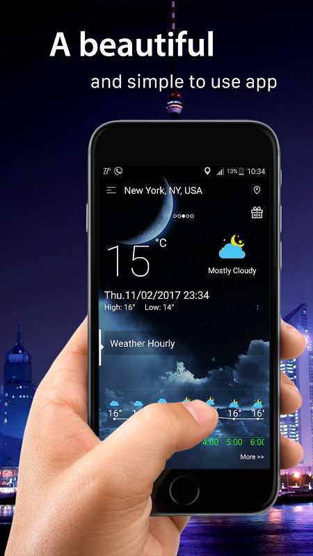 Android Weather radar Screen 1