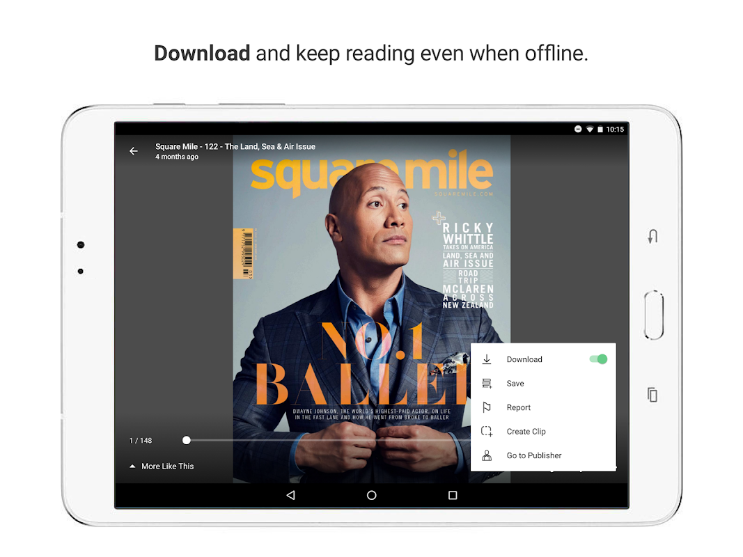 issuu - Read Magazines, Catalogs, Newspapers. 5.18.0 Screen 7
