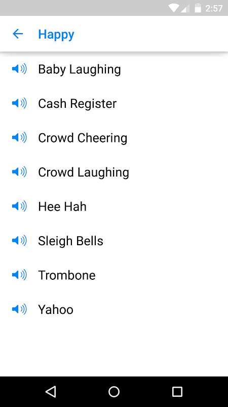 Android Sound Clips Screen 1