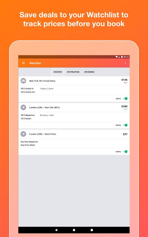 KAYAK flights, hotels & cars 73.1 Screen 6