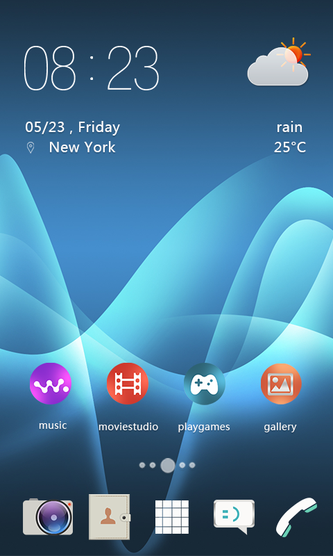 Android Xperia Theme Screen 3