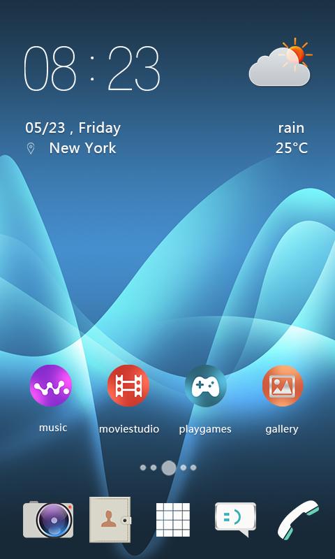 Android Xperia Theme Screen 3