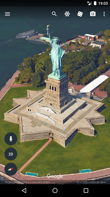 Android Google Earth Screen 3