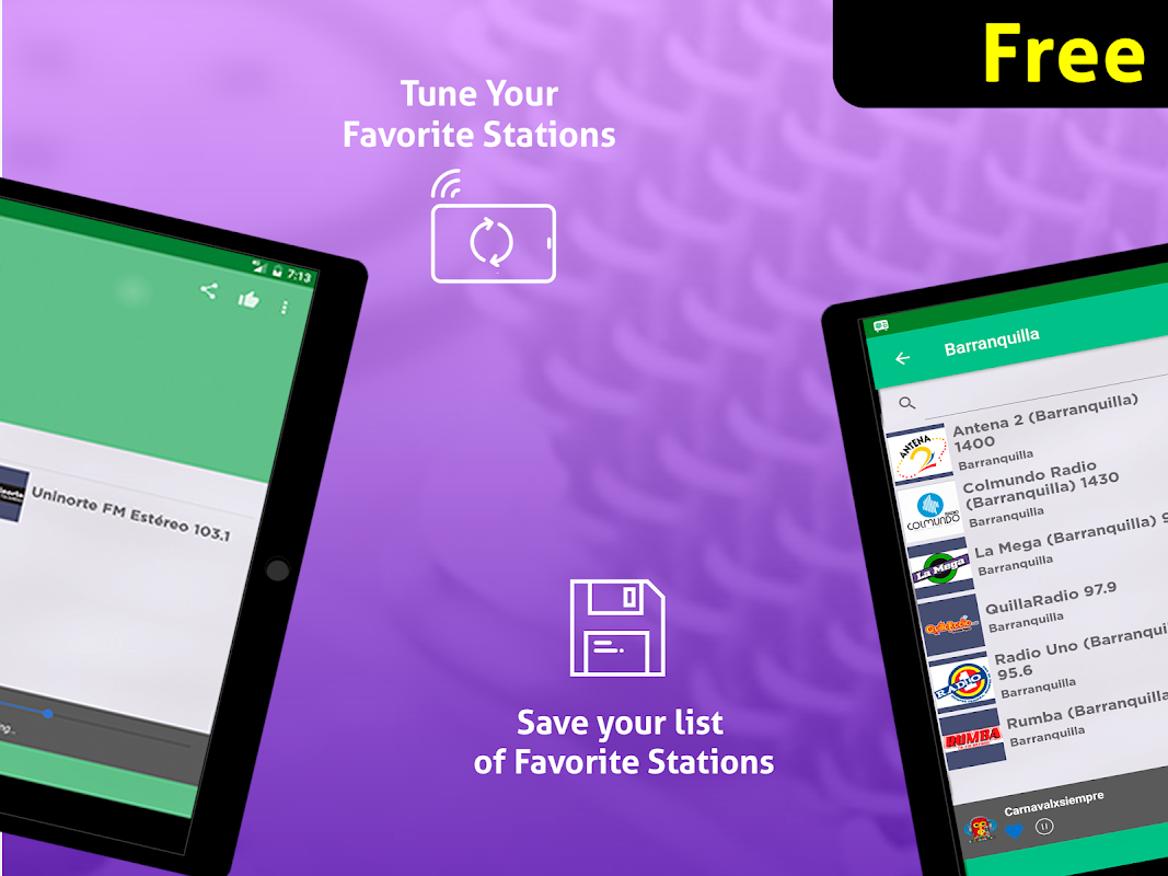 Android Free Colombia Radio AM FM Screen 2
