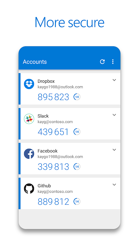 Microsoft Authenticator 6.2.28 Screen 2