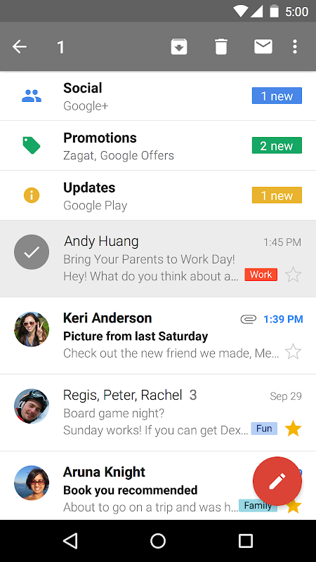 Android Gmail Screen 5