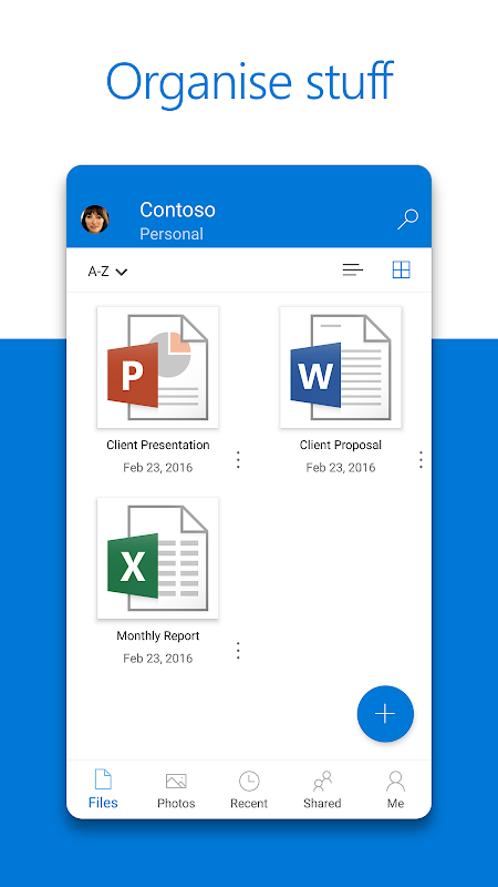 Android Microsoft OneDrive Screen 3