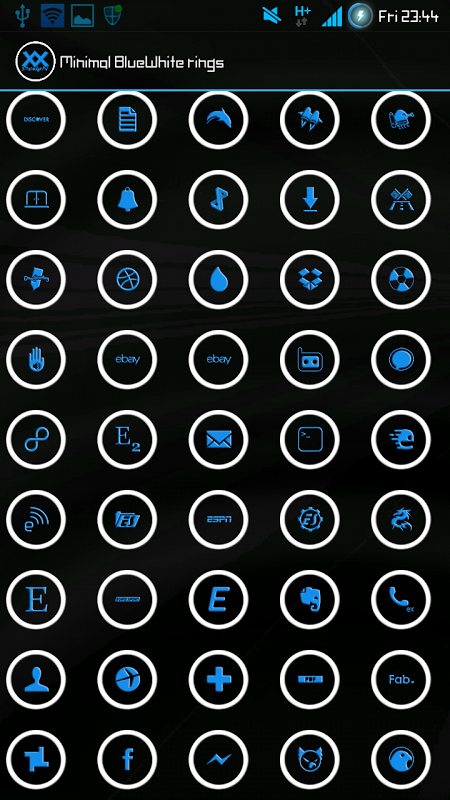 ICON PACK - Blue White Rings 1.0 Screen 2