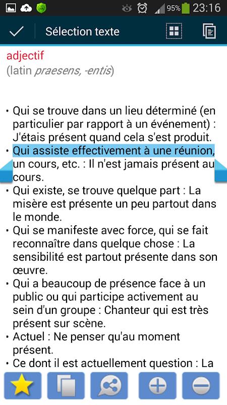 Dictionnaire Français 4.0.6 Screen 2