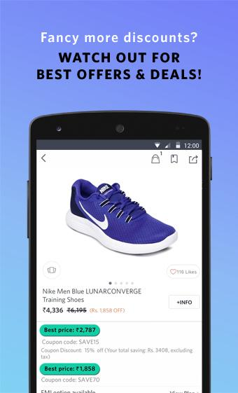Android Myntra Online Shopping App Screen 4
