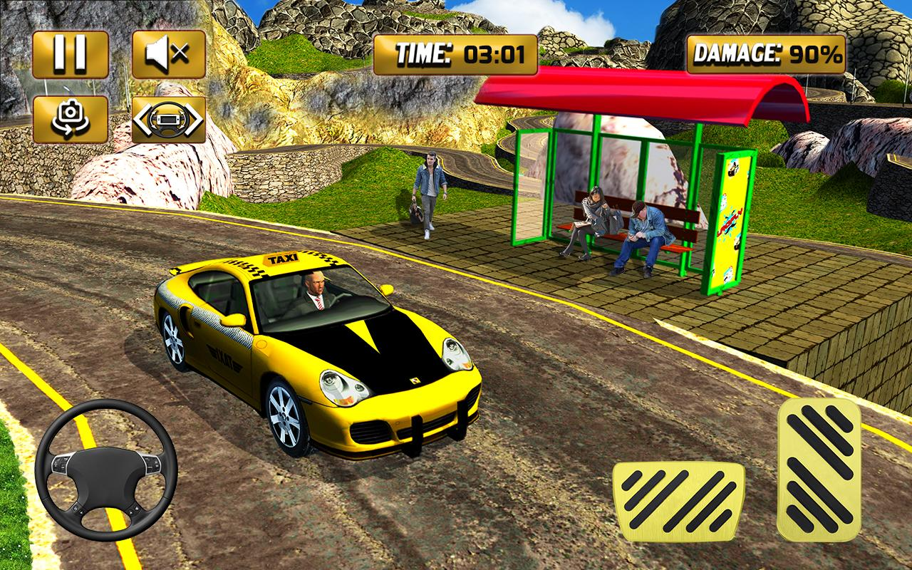 Android Mountain Crazy City Cab Driver Taxi Game 2018 Screen 1