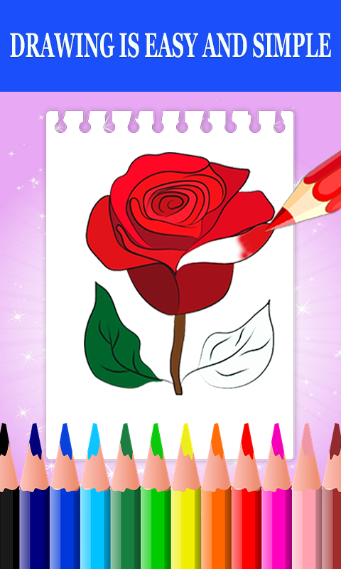 Android Flower Drawing and Coloring Book Screen 1