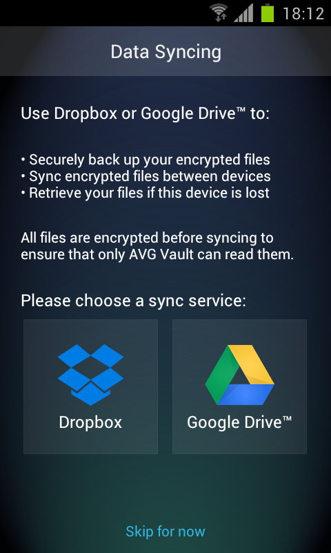 Android AVG Vault Screen 11