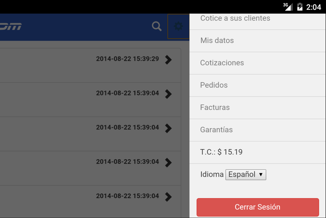 Android SYSCOM para Android Screen 5