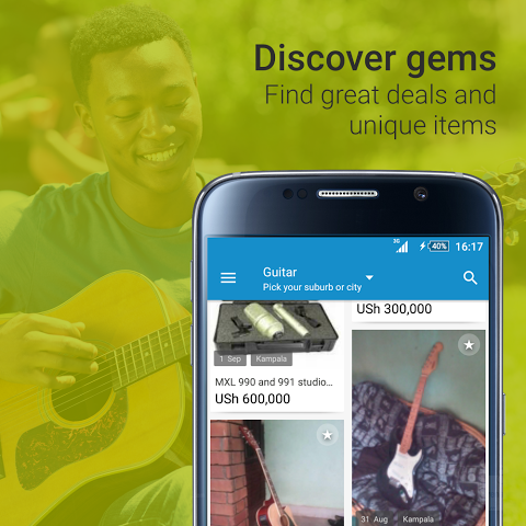 Android OLX Uganda Sell Buy Cellphones Screen 1
