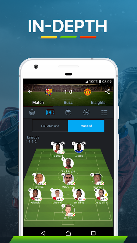 365Scores: Sports Scores Live 5.1.3 Screen 8