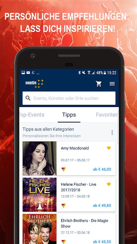 Android EVENTIM DE Screen 1