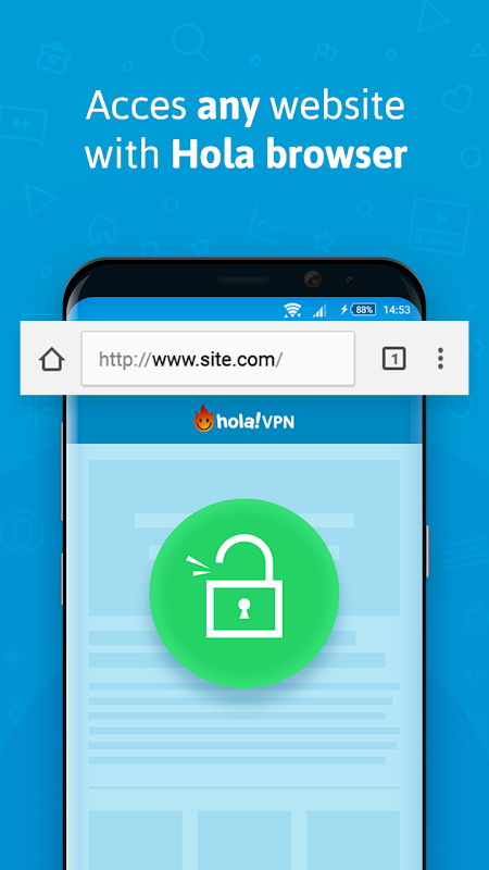 Android VPN - Hola Free VPN Screen 1