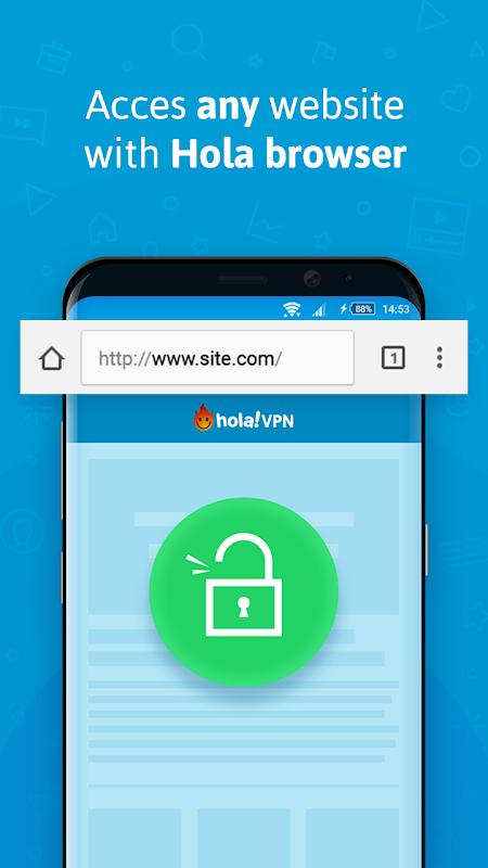 VPN - Hola Free VPN X86_1.117.693 Screen 1