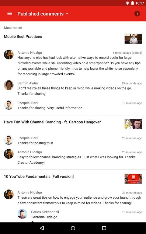 YouTube Creator Studio 1.8.4 Screen 7